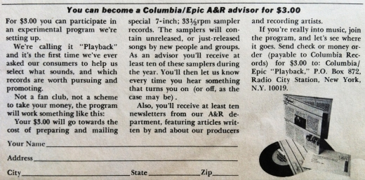 A&R Advisor Advert