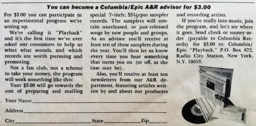 A&R Advisor Advert